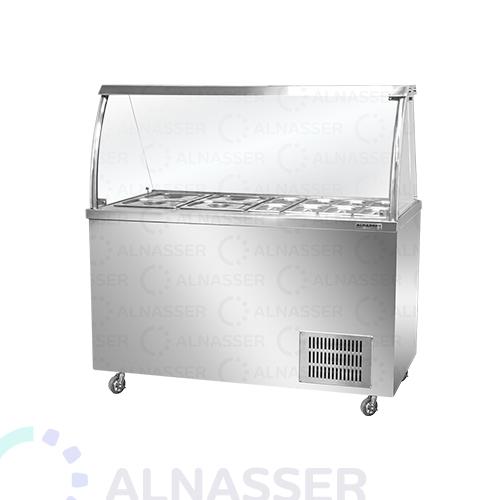ثلاجة-عرض-بصحون-أمام-مصانع-الناصر- display-refrigerator-close-alnasser-factories