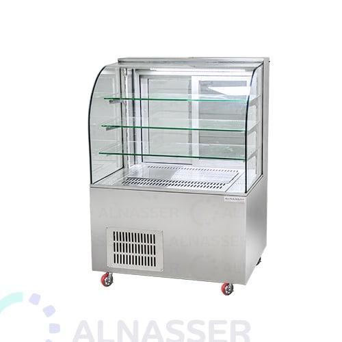 ثلاجة-عرض-حلويات-مصانع-الناصر-3أرفف-أمام-وطني-display-refrigerator-120cm-alnasser-factories