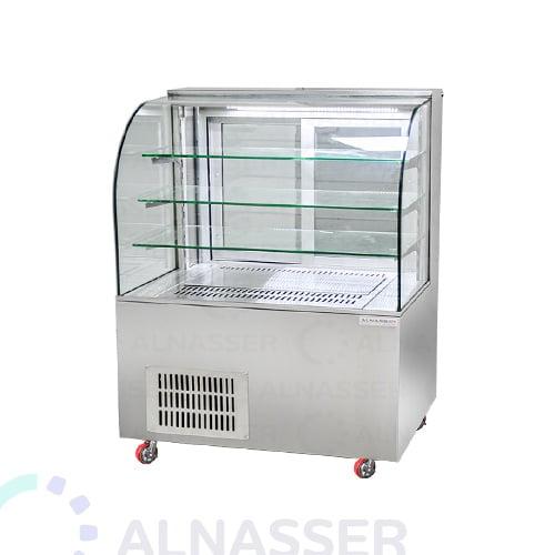 ثلاجة-عرض-حلويات-مصانع-الناصر-3أرفف-أمام-وطني-display-refrigerator-150cm-alnasser-factories
