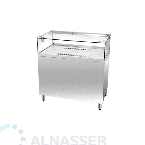 ثلاجة-عرض-رف-خدمة-زجاج-سطح-رخام-أمام-وطني-display-refrigerator-100cm-alnasser-factories