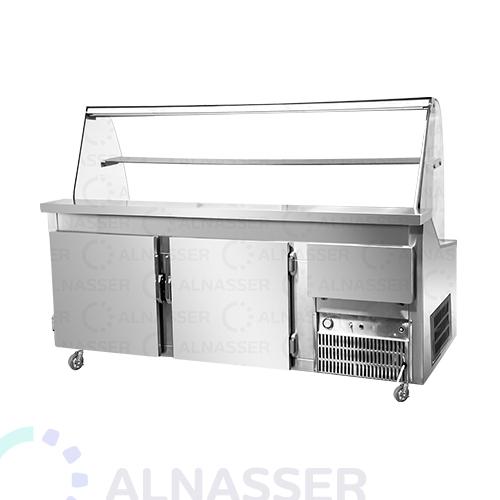 ثلاجة-عرض-فواكه-صحون-الخلف-3أبواب-مصانع-الناصر-fruits-display-refrigerator-alnasser-factories