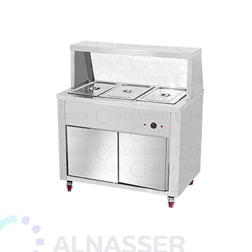 سخان بوفية-3صحون-بابين-Bain -marie-warmer-plates3-alnasser-factories