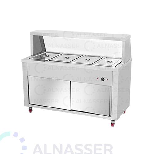 سخان بوفية-4صحون-بابين-Bain -marie-warmer-plates4-alnasser-factories