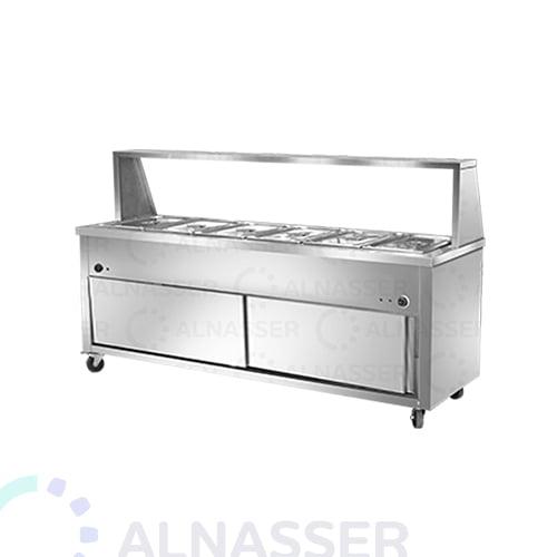 سخان بوفية-6صحون-بابين-bain -marie-warmer-plates6-alnasser-factories