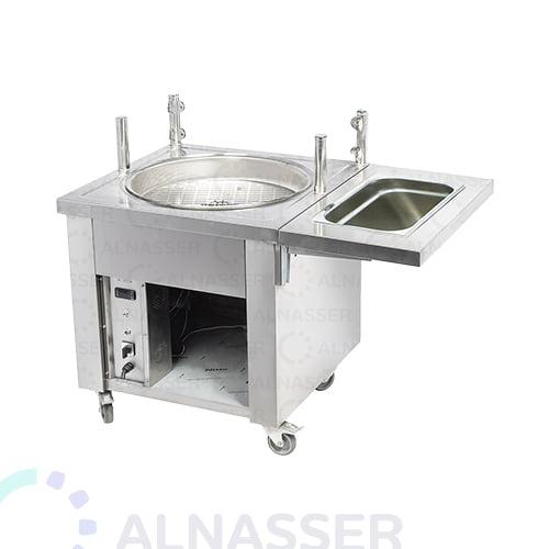 قلاية-لقيمات-حوض-تصفية-مصانع-الناصر-lokma-fryer-with-oil-drain-alnasser-factories