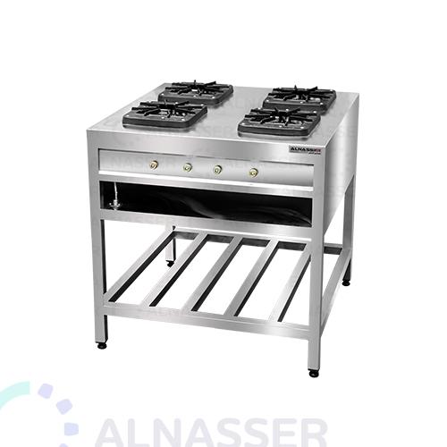 موقد-غاز-بقاعدة-4-شعلات-مصانع-الناصر-gas-stove-square-alnasser-factories