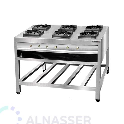 موقد-غاز-بقاعدة-6-شعلات-مصانع-الناصر-gas-stove-square-alnasser-factories
